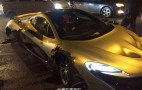 McLaren P1 crashes hard in China