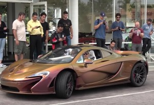 McLaren P1 finished with color-changing carbon fiber