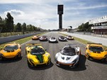 McLaren P1 GTR driver program at the Circuit de Catalunya in Barcelona, Spain