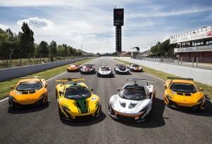 McLaren P1 GTR driver program at the Circuit de Catalunya in Barcelona, Spain