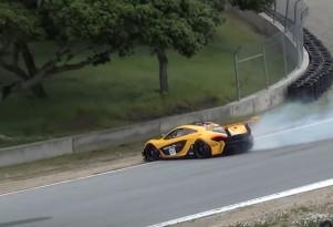 McLaren P1 GTR Near Crash Laguna Seca