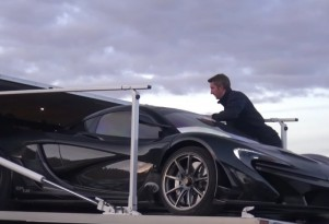 McLaren P1 LM loaded onto a truck at the Nürburgring