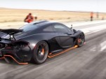 McLaren P1 on the drag strip