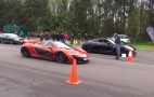 Watch The McLaren P1 Hit 205 MPH While Racing A Modified GT-R: Video