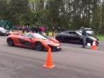 McLaren P1 versus modified Nissan GT-R