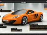 McLaren's configurator for the MP4-12C Spider