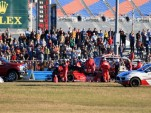 Memo Gidley and Matteo Malucelli crash at 2014 Rolex 24