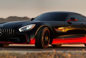 Mercedes-AMG GT R serving as vehicle mode for Drift in 'Transformers: The Last Knight'
