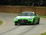 Mercedes-AMG GTR runs up the hill at Goodwood