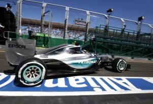 Mercedes AMG's Lewis Hamilton at the 2015 Formula One Australian Grand Prix