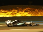 Mercedes AMG's Lewis Hamilton at the 2015 Formula One Bahrain Grand Prix