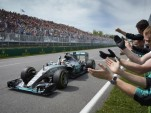 Mercedes AMG's Lewis Hamilton at the 2015 Formula One Canadian Grand Prix
