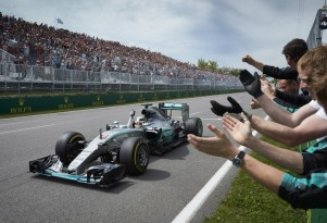 Mercedes AMG's Lewis Hamilton at the 2015 Formula One Canadian Grand Prix