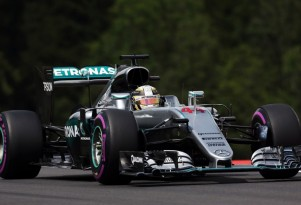 Mercedes AMG's Lewis Hamilton at the 2016 Formula One Austrian Grand Prix