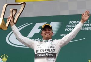 Mercedes AMG's Nico Rosberg at the 2015 Formula One Austrian Grand Prix