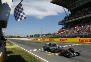 Mercedes AMG's Nico Rosberg at the 2015 Formula One Spanish Grand Prix