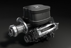 Mercedes AMG's turbocharged V-6 for the 2014 Formula One season