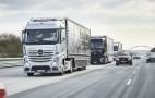 Mercedes autonomous trucks take part in cross-border trial