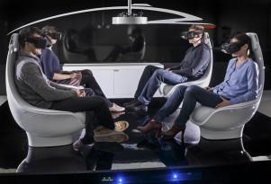 Mercedes-Benz autonomous-car interior concept at TecDay, Sunnyvale, California