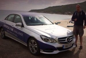 Mercedes-Benz E300 Bluetec Hybrid driven 1,223 miles on one tank of diesel