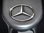 Mercedes-Benz logo on race car