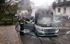 New Mercedes-Benz S-Class Catches Fire In Germany