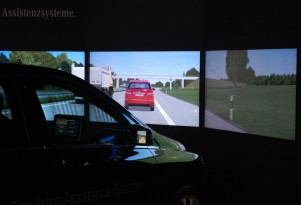 Mercedes-Benz safety systems simulator, 2011 Frankfurt Auto Show