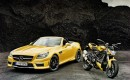 Mercedes-Benz SLK 55 AMG with Ducati Streetfighter 848