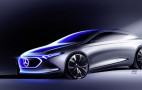 Latest image shows shape of Mercedes EQA compact electric car for Frankfurt show