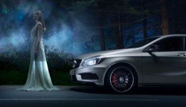 Mercedes' new ad for the A45 AMG