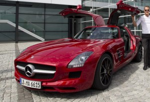 Michael Schumacher and the Mercedes-Benz SLS AMG