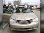 Michelle Higgins' totaled Chrysler Sebring.