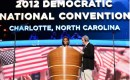 Michelle Obama at a soundcheck before the 2012 Democratic National Convention