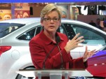 Michigan Governor Jennifer Granholm, at Ford plant announcement