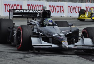 Mike Conway en route to 2011 Long Beach win - Anne Proffit photo