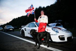 Mike Newman set a land speed record for blind people, averaging 186 mph. [Photo by The Times]