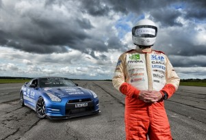 Mike Newman sets new blind land speed record in a Litchfield Nissan GT-R
