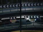 MINIs race through a London garage in 'The Britalian Job'