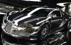 Mirror-finish Bugatti Veyron on display at VW 'Premium Clubhouse'