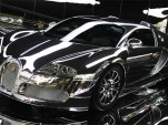 Mirror finish Bugatti Veyron
