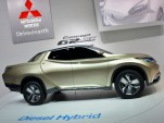 Mitsubishi GR-HEV hybrid pickup concept: Geneva Motor Show live photos