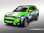 Mitsubishi Outlander PHEV in Asia Cross Country Rally