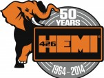 Mopar's 50th Anniversary logo for the Hemi V-8 engine