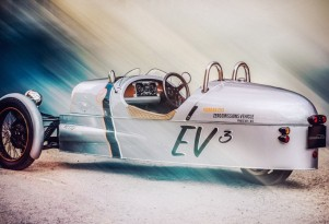 Morgan EV3 electric 3 Wheeler prototype
