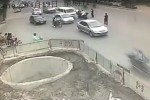 Multiple scooter crash in China