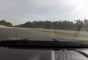 Mustang GT500 nearly crashes...nearly!