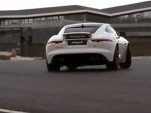Narain Karthikeyan driving the 2015 Jaguar F-Type Coupe