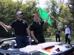 NASCAR champs and Volt drivers Jimmie Johnson and Jeff Gordon