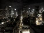 New York City traffic at night, by Flickr user paulobar