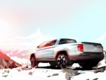 2017 Honda Ridgeline pickup preview sketch
